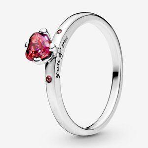 🍓Pandora Sparkling Red Heart Ring